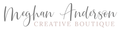 Meghan Anderson Creative Boutique branding and custom web design logo